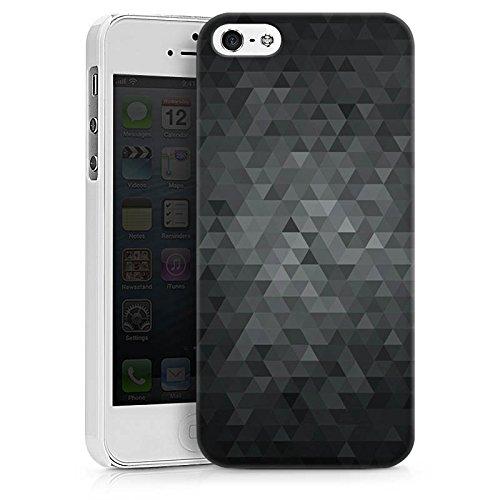 Apple iPhone 6s Tasche Hülle Flip Case Dreiecke Modern Dunkel Hard Case weiß