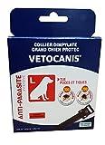 VETOCANIS Collier Anti-Puces et Anti-Tiques pour Grand Chien, Coloris Noir, Efficacité 300 jours contre les puces et 200 jours contre les tiques