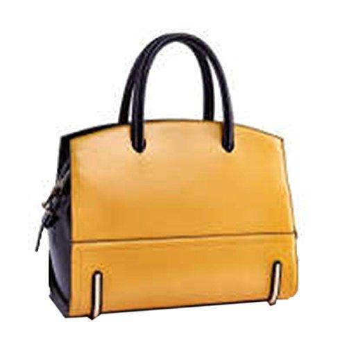 WU Zhi Leder Damen Handtaschen Umhängetasche Yellow