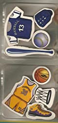 Sports Erasers - Baseball/Basketball or Football/Soccer 8 pack