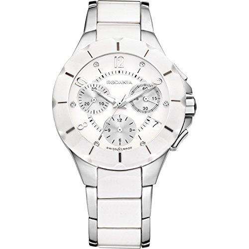Rodania 24900-40-Uhr für Frauen, Edelstahl-Armband Weiß