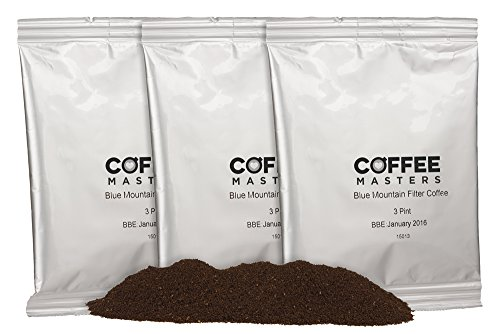 Coffee Masters Blue Mountain Blend - Bolsitas de Café Molido con Filtro (50x50g)