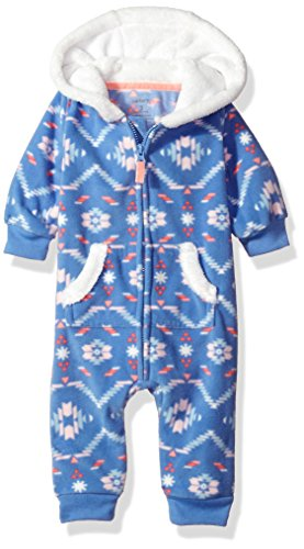 Carter's Baby Mädchen (0-24 Monate) Schneeanzug Gr. 9 Monate, Violett Sherpa Trim Fleece