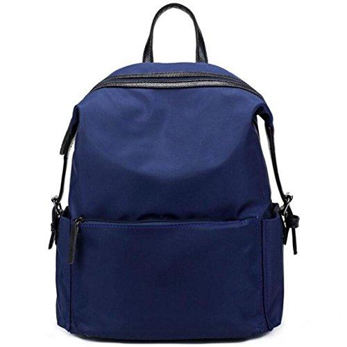 Y&F Frau Nylon Reiserucksack Rucksack Schultertaschen Handtasche Blue