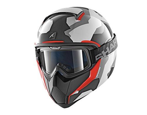 Shark Van Core wipe-out War, casco da moto, bianco, taglia S