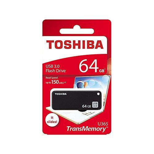 Toshiba TransMemory U365 USB 3.0 64GB Pen Drive (Black)