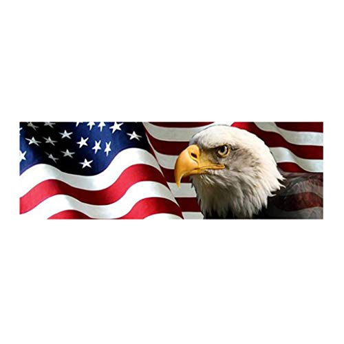 CADANIA Amerikanische Flagge EagleRear Window Graphic Perf Aufkleber Tönung Print Aufkleber Truck SUV 2# -