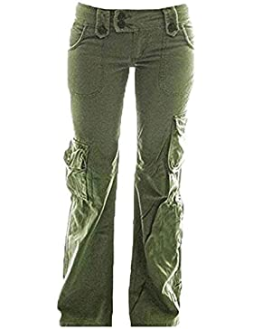 Hellomiko Pantaloni cargo da donna - Pantaloni da combattimento multifunzionali Pantaloni da viaggio confortevoli...
