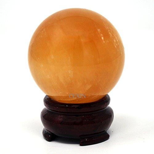 Bola de Feng Shui de cuarzo citrino natural con...