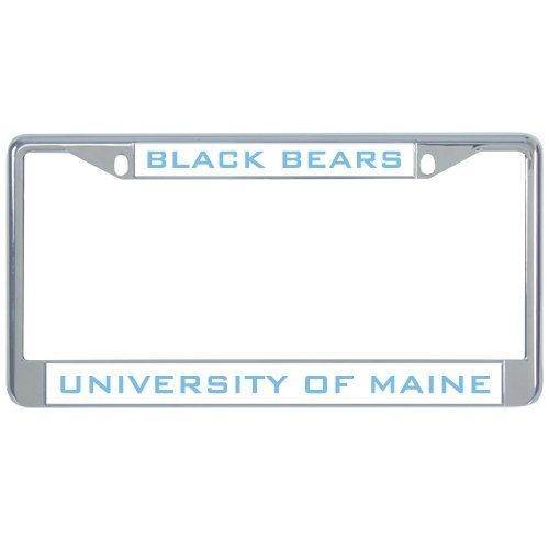 Maine Metall Nummernschild Rahmen in Chrom Maskottchen 30,5x 15,2cm