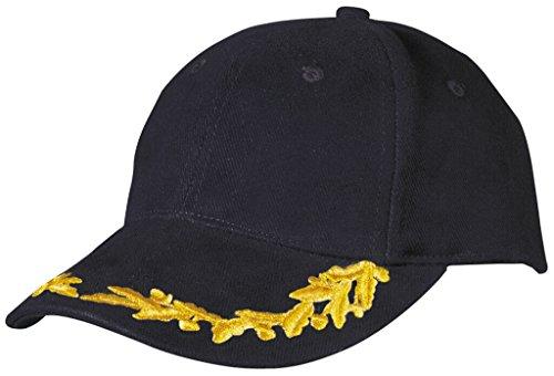 Myrtle Beach Casquette spéciale avec broderie feuilles de chene en lurex sur la visiere (black)