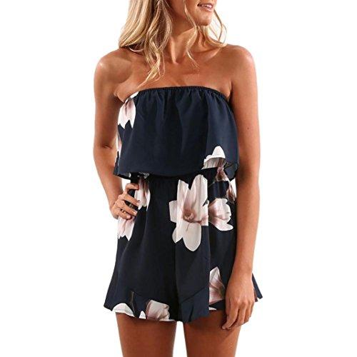 HEHEM, Women Jumpsuits Women Jumpsuits, Womens Off Shoulder Floral Print Holiday Mini Playsuit Ladies Shorts Jumpsuit