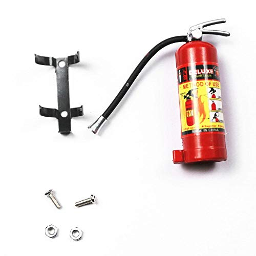 Simulated Fire Extinguisher, New Style Simulated Decorative Fire Extinguisher for Fire Protection Component Expansion Model for 1 / 10 RC Caterpillar Axial Accessory SCX10 TRX4