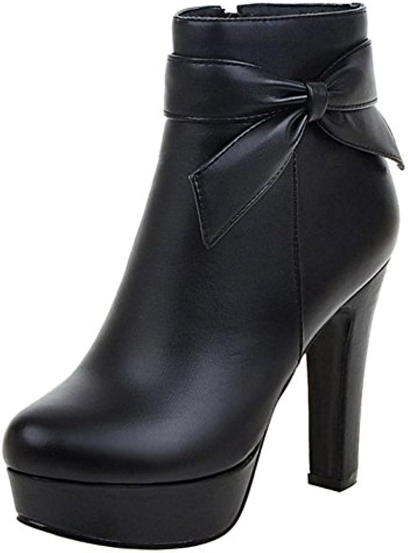 onewus bottes à talon haut haut haut et des bottes mode avec joli noeud papillon de grande taille b0783rcmrh parent | Qualité Fiable  b07b62