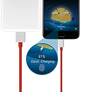 RSC POWER+ High-Speed Data/Charging/USB/Sync Dash Cable for One Plus 5/5T, 3/3T and All Type C Smartphones (Red and White)