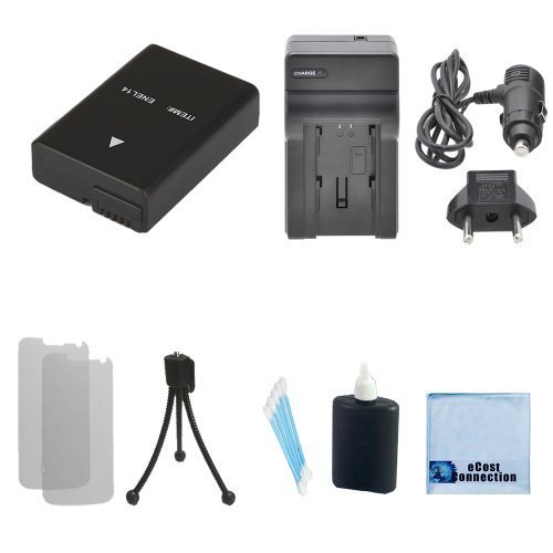 EN-EL14 Rechargeable Battery + Car/Home Charger For Nikon D5300 D5200 D3100 D5100 D3200 Coolpix P7100 Camcorders + Complete Starter Kit  available at amazon for Rs.3817