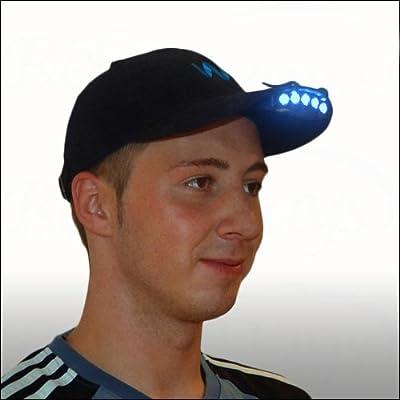 Schildmützenlampe Kopflampe Cap Light für alle Baseball-Kappen mit 5 LEDs von Relaxdays - Outdoor Shop