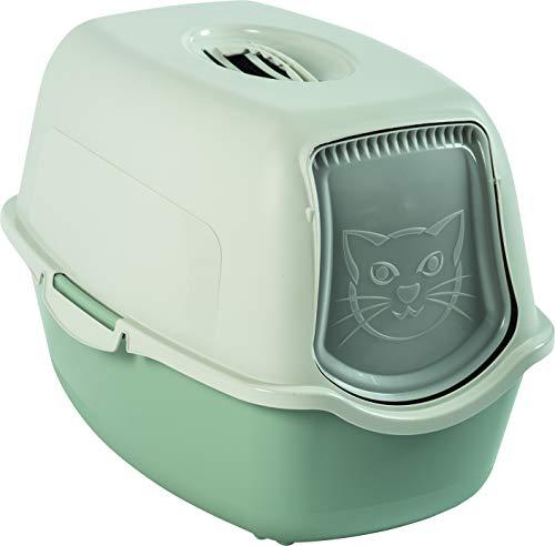 Rotho Bailey 4552905081 - Lettiera per Gatti con Coperchio, Colore: Salvia/Bianco