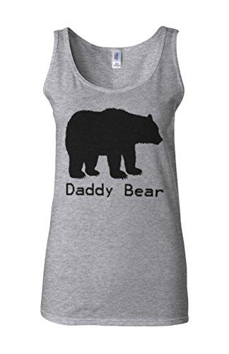 Daddy Bear Christmas Baby Novelty White Femme Women Tricot de Corps Tank Top Vest Gris Sportif