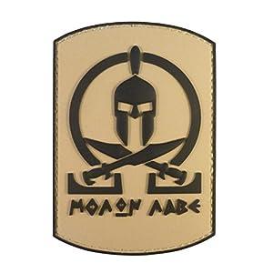 Desert Arid Spartan Molon Labe Shield Warrior Morale AOR1 DCU PVC Gomme Velcro Écusson Patch