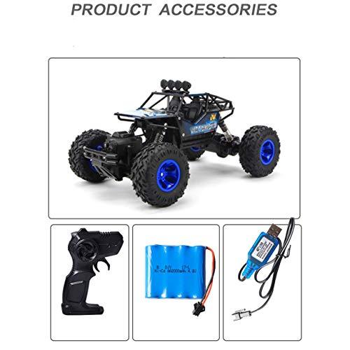 2,4G Große Fernbedienung Auto Drift Geländewagen Allradantrieb Klettern High-Speed   Racing Boy Lade Spielzeugauto (blau) DEjasnyfall