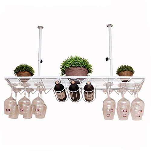 Wine Rack Suspension Weinglashalter Wanddekoration Weinschrank Becherhalter (weiß) (größe : 100 *...