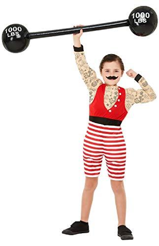 Fancy Me Jungen Deluxe Zirkus Strongman Showman Performer Karneval Kostüm Outfit 4-12 Jahre