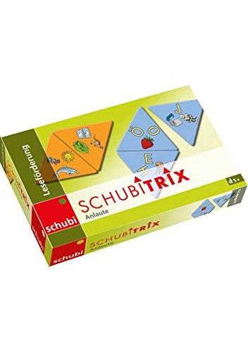 Unbekannt SCHUBITRIX Leseförderung Anlaute, Domino, 2 Verschiedene Schwierigkeitsgrade, je 18 Karten mit Selbstkontrolle