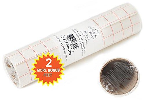 TRANSFER PAPIER mit Gitterraster – 30.5 cm x 2.4 m Rolle – Perfekt für Vinyl Klebefolien von CRICUT, CAMEO u.a. – Perfekt für Wände, Schilder, Aufkleber, Fenster und glatte Oberflächen - 5