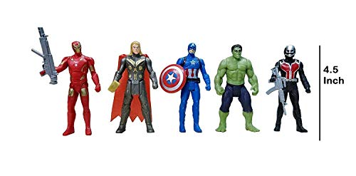 world of needs ® The Team Avengers Set of Five Action Figures (Multicolor)