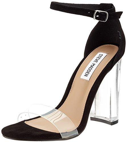 Steve Madden Damen Chelsea Sandal Peeptoe, Schwarz (Black), 36 EU (Sandale Für Damen Von Steve Madden)