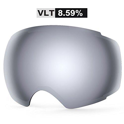 ZIONOR Lagopus X4 Snowmobile Snowboard Skate Skibrille mit UV Schutz Magnet Linse Schnell Ändern Spherical Frameless Skibrille