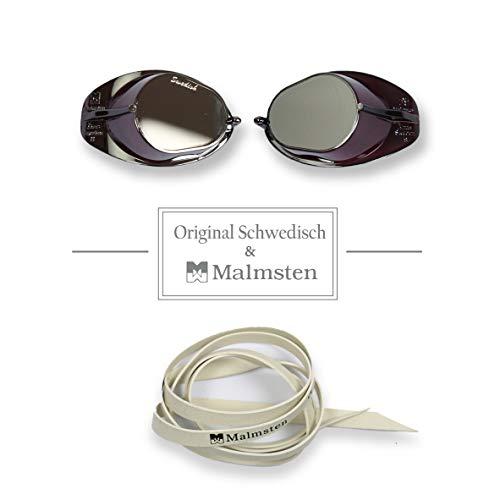 be9b7815b66d Diapolo - Occhialini da Nuoto Originali Malmsten con Lenti a Specchio e  Trattamento Anti-Appannamento