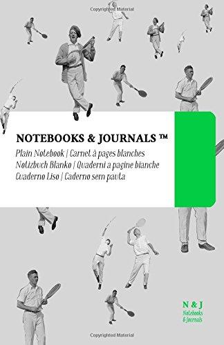 Carnet Notebooks & Journals, Tennis (Collection Vintage), Large, Blanc: Couverture souple (13.97 x 21.59 cm)(Carnet de Notes, Carnet de Voyage, Cahier de Texte) par Notebooks and Journals