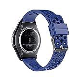 Fit-power 20 mm Smart Watch Bands Ersatz-Uhrenarmband für Samsung Gear Sport/Samsung Gear S2 Classic/Huawei Watch 2 Watch/Garmin Vivoactive 3/Garmin Vivomove HR, Breathable Blue