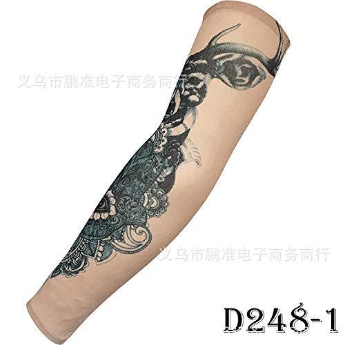 CXQ Tattoo Ärmel Rana Tattoo Ärmel Chinesischen Stil Tattoo Ärmel Große Blume Arm 3D Digital HD Tattoo, D248-1 Hd Tattoo
