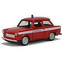 Feuerwehr Trabant 601 Modellauto 11cm Trabi Modell Trabbi DDR Auto rot Spielzeug