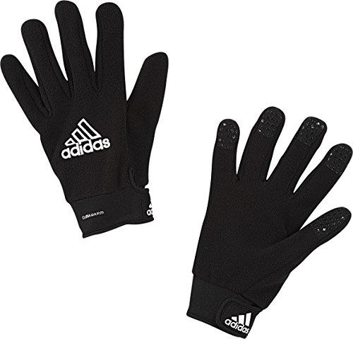 adidas Field Player Fleece Glove, Black/White, Size 7 -