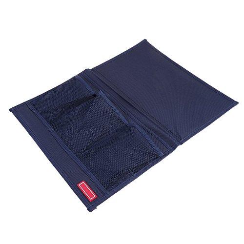 OUNONA Nachttisch Aufbewahrung Sofa Schreibtisch Caddy Tasche für Armbanduhr Handy Sonnenbrille Halter magaazines Fernbedienung Beutel (Cyan)