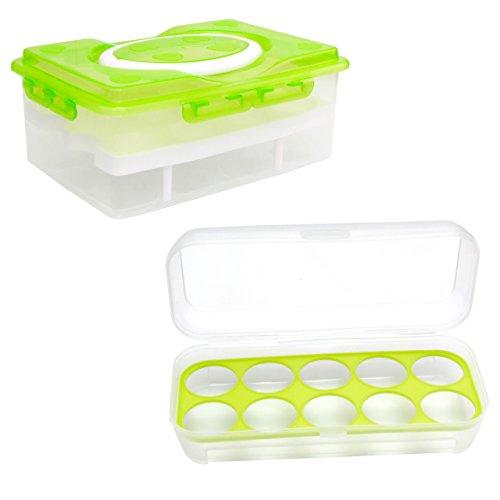 Lantelme 6160 Eierhalter für 10 und 24 Eier - für Kühlschrank - Transport oder auch als Vorratsbox