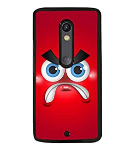 Fuson Designer Back Case Cover for Motorola Moto X Play (Angry Face Angry Bird Red Face Anger Angry expression)