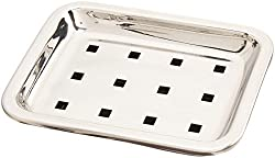 Private Qu always Stainless Steel Rectangular Soap Dish Set of 2