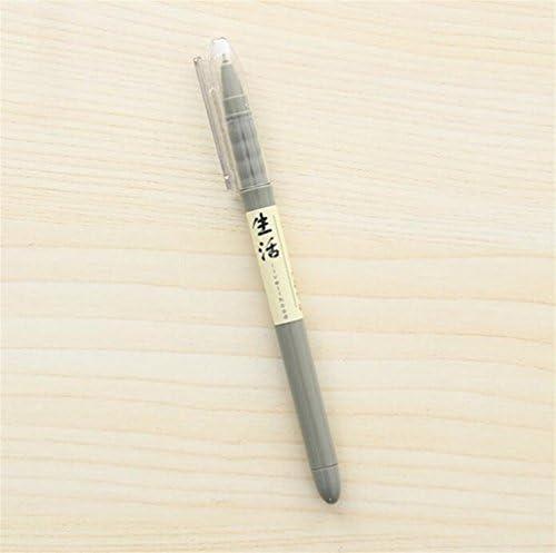 Yuloen Cadeaux de Fournitures Scolaires Scolaires Scolaires 4 Pcs / Set Personnalité Texte Gel Stylo Ensemble Simple Signing Pen Étudiant Papeterie Récompense (Gris) | Pas Cher  3eff47