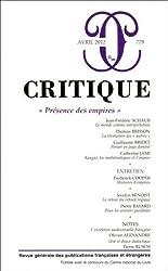 Critique, N° 779, Avril 2012 : Présence des empires
