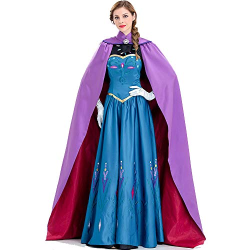 Up Queen Kostüm Snow Dress - Kostümparty Kostüme Snow Queen Party Dress kostüm Prinzessin Cosplay Dress up mit Mantel for Frauen und mädchen oder Damen Halloween kostüm Rollenspiel Kostüme (Größe : XL)