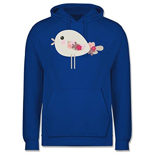 Ostern - Süßer Vogel - Frühlingstiere mit Blumen - Männer Premium Kapuzenpullover / Hoodie Royalblau
