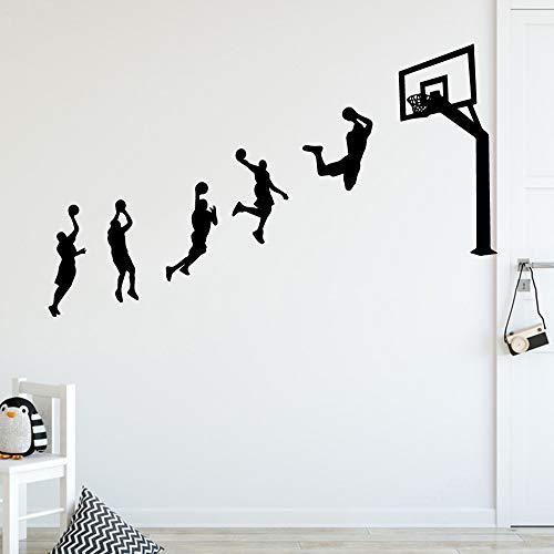 Neue basketball spiel wandaufkleber personalisierte kreative für kinderzimmer diy dekoration kunst dekor tapete 43 * 70 cm