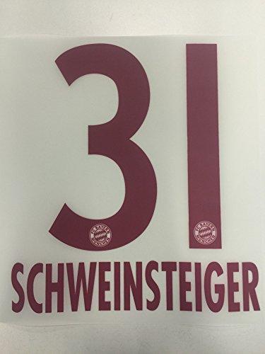 Original FC Bayern München Trikot-Flock 23cm - SCHWEINSTEIGER 31