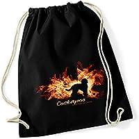 57584d20e479d Siviwonder Turnbeutel - Cockapoo Cockerpoo Cocker Pudel Mix - FEUER und  FLAMME - Baumwoll Tasche Beutel