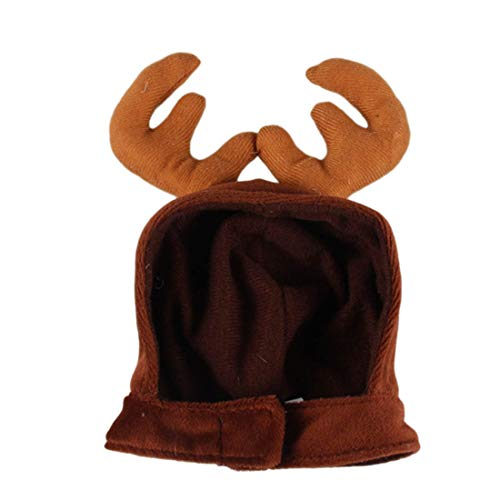 (Basico Christmas Costume Pet Cat Dog Antlers Hat Cap Pet Dog Clothes Reindeer Horns Headwear Puppy Doggy Kitten Headband)